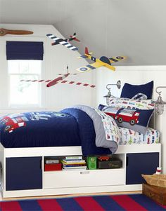 BOY'S BEDROOM from potterybarnkids.com . . . Things that zoom, vroom and soar high