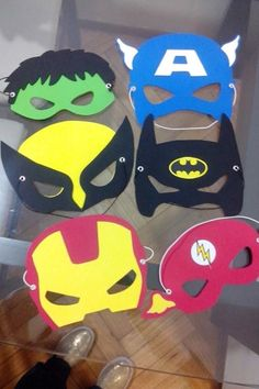 antifaces super heroes