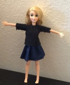 Sayuri shows off her raglan sweater and pleated skirt. Both hand sewn by me