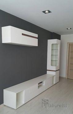 Pin by El Vato on hogar dulce hogar! Tv Cabinet Design, Tv Wall Design, Partition Design, Tv Unit Decor, Tv Wall Decor, Home Room Design, Home Interior Design, Bedroom Wall Units, Modern Tv Wall Units
