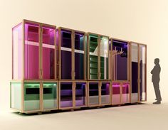 Modular Clothing Storage in Transparent Box – Wardrobe System - The Great Inspiration for Your Building Design - Home, Building, Furniture and Interior Design Ideas Built In Furniture, Recycled Furniture, Furniture Design, Clothes Storage Systems, Clothing Storage, Modular Wardrobes, Wardrobe Systems, Modular Storage, Interior Decorating