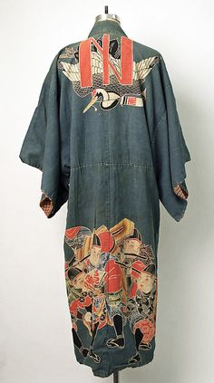 thekimonogallery:  Cotton maiwai kimono worn at fishing celebrations. Second quarter 20th century, Japan. MET Museum (Gift of Mrs. John Steel, 1980)