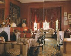 Katharine Graham's Georgetown residence by Billy Baldwin.  Photo by Derry Moore for Architectural Digest.