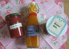 Selbstgemachte Erdbeer-Pfirsich-Marmelade Nimm 2-Likör Snickertella (Brotaufstrich aus Snickers)