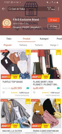 Shopping Websites, Online Shopping Clothes, Cute Girl Outfits, Trendy Outfits, Online Shop Baju, Best Online Clothing Stores, Model Kebaya, Casual Hijab Outfit, Instagram Story Template
