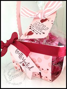 Twitterpated Berry Basket by Connie Stewart - video tutorial available at www.SimplySimpleStamping.com (January 15, 2015)