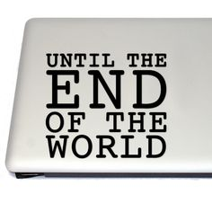 Until The End Of The World Comic Book Vinyl Decal  Untill the end of the world comic book comics comic preacher garth ennis jesse custer tulip cool awesome geek nerd otaku fan fandom amc sticker vinyl decal laptop sticker bumper sticker seth rogen gift gift idea #anime #cosplay #costume #otaku #gamer #videogames