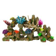 Top fin stone coral bubbler aquarium ornament for Petsmart fish tank decorations
