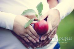 Pregnancy photo shoot at the Apple Orchard