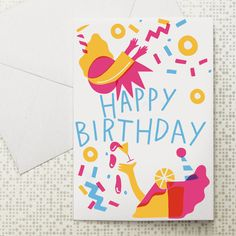Birthday Party card at Dowse