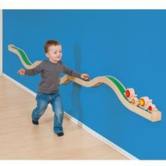 Wall Play Tracks - Wall Play Track Set--- change s it sits on a shelf.