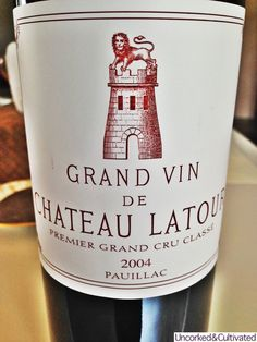 Latour's 2004 shows nice development now, the backbone of tannin is softening, an uproar of sweet ripe juicy fruit greets the nose.