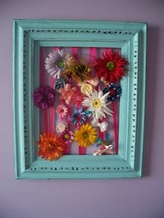 Great way to hold & store the girls bows/flowers