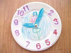 Preschool Crafts for Kids*: Hickory Dickory Dock Clock Craft