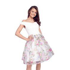 dc42e53e12e Sistaglam Floral  Violetta  organza bardot prom dress