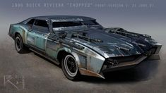 Concept for Death Race. -Photoshop Saw this thing being built every day after lunch in when on the production in Montreal. Most fun show so far to work on. Demolition Derby, Death Race, Buick Riviera, Futuristic Cars, Futuristic Motorcycle, Post Apocalypse, Car Drawings, Armored Vehicles, Armored Car