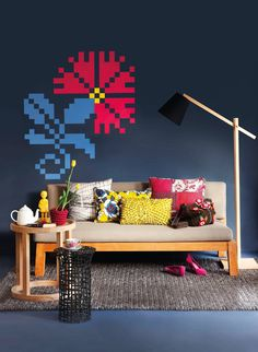 Plascon interpreted the cross-stitch trend into a painted wall motif. Find out how you could recreate this feature in your home..…