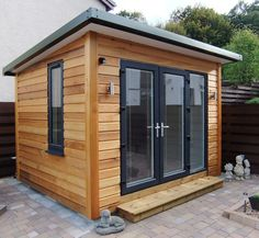 Garden Office Shed, Outdoor Garden Sheds, Backyard Office, Backyard Studio, Backyard Sheds, Outdoor Office, Contemporary Sheds, Contemporary Garden Rooms, Contemporary Cottage