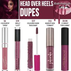Kylie Cosmetics' new shade from The Valentines Collection in Head Over Heels dupes