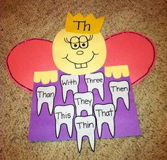 Practicing Th words: Tooth Fairy Craft