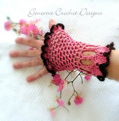 Ravelry: Victoria Crochet Gloves Victorian/Steampunk pattern by Genevive Hunter