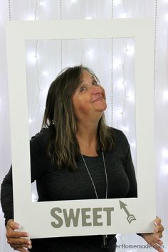 DIY Photo Booth Props using foam boards and stickers