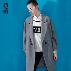 Toyouth 2017 New Arrival Women Wool Long Wollen Coat Autumn Pockets Double Breasted Square Collar Coat (32726910250)  SEE MORE  #SuperDeals