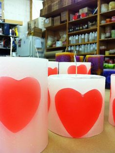 Can't get enough of these hearts! Is it February yet?  Boogie Doozie Candle Shop     http://www.facebook.com/pages/Bougie-Doozy-Candle/191267564223988