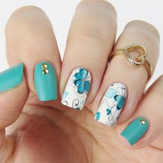 BORN-PRETTY-Nail-Art-Water-Decals-Transfer-Stickers-Chic-Flower-Manicure-BP-W10