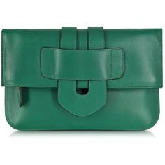 Tila March Zelig Leather Clutch ($368) ❤ liked on Polyvore featuring bags, handbags, clutches, parrot, fold over handbag, cocktail purse, shoulder strap purses, green leather purse and green handbags