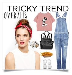 """Untitled #510"" by lo2lo2a ❤ liked on Polyvore featuring Chronicle Books, Citizens of Humanity, Nly Shoes, Givenchy, TrickyTrend and overalls"