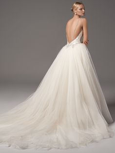 New wedding dresses lace open back buttons ball gowns Ideas Wedding Dresses With Straps, New Wedding Dresses, Designer Wedding Dresses, Tulle Ball Gown, Ball Dresses, Ball Gowns, Sheath Dresses, Dresses Dresses, Sottero And Midgley Wedding Dresses