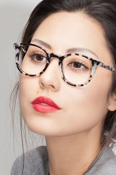 Aurora Flecked Ivory Acetate Eyeglasses from EyeBuyDirect. Exceptional style, quality, and price with these glasses. This frame is a great addition to…
