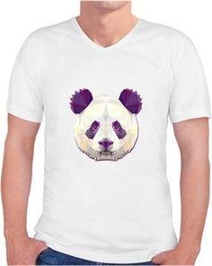 Panda -B Kendin Tasarla - Erkek V Yaka Tişört