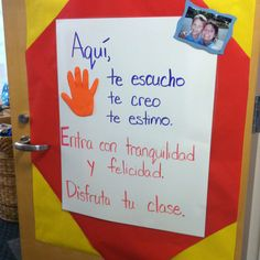 Nice little pledge to my kids to start the year in Spanish class