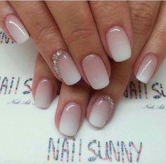 Milky white nails