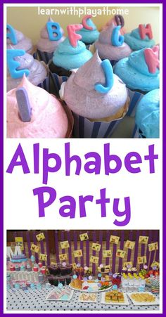 Learn with Play at home: Alphabet Party... some fun ABC activities in here from @Debs - Learn with Play at home