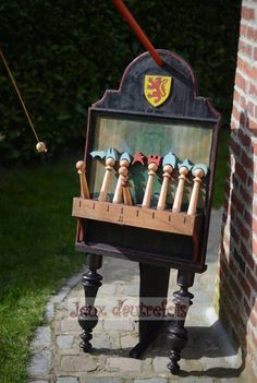 Games of yesteryear - Holiday Animation ancient wooden games in Mérignies in the Nord Pas de Calais