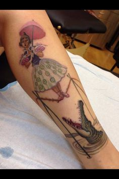 Haunted Mansion This was done by Christina Hock at Dolorosa Tattoo in Studio City, California. Inspired by a portrait hanging in the eleva...