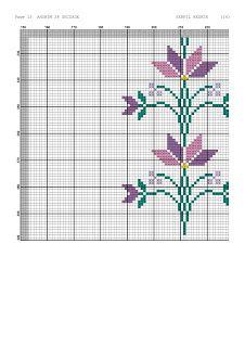 Kanaviçe-dantel işleri: Mor çiçekli seccade örneği- kanaviçe seccade Embroidery Stitches Tutorial, Cross Stitch Patterns, Arabesque, Cross Stitch Embroidery, Tablecloths, Navidad, White Embroidery, Cross Stitch Designs, Counted Cross Stitch Patterns