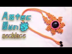 Macrame earrings tutorial: The fox eyes earrings - Easy latent charm macrame element - YouTube