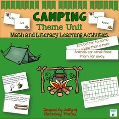 Are your students ready for summer vacation? This camping unit is a great end of the year to review literacy as well as math skills. It also would work great for summer school, or even starting off the school year.
