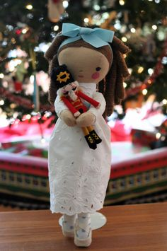 Clara and her nutcracker- so sweet and beautiful!