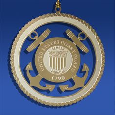 The Coast Guard originally started maritime service in August 1790. Today's Coast Guard is a combination of five original groups -- Revenue Cutter Service, Lighthouse Service, Bureau of Navigation, Lifesaving Service and the Steamboat Inspection Service that protect the American public, economic and environmental interests. Honor Coast Guard members and veterans with this US Coast Guard Insignia Ornament!
