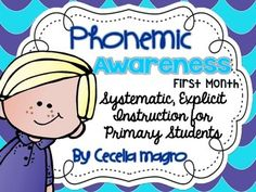 In the same way we have students orally rehearse their stories before writing children need to work with phonemes, or sounds, before attaching letters to them.  This is phonemic awareness.  Phonemic awareness is essential for beginning readers and must be systematically taught.
