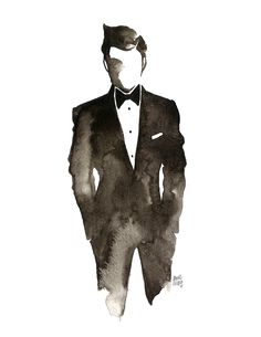 Black Tie & Watercolor !