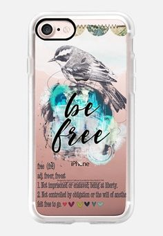 Casetify iPhone 7 Classic Grip Case - Be free by Li Zamperini Art #Casetify