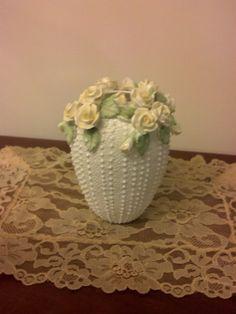 Vintage Collectible Vase Yellow Rose Vase Jolie by RCEastman, $15.00