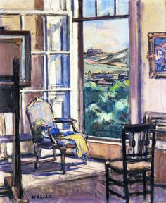 Interior, The Open Wiindow  Francis Campbell Bolleau (F.C.B.) Cadell