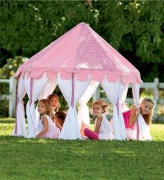 Cotton Canvas Pink Party Pavilion Play Tent by HearthSong®. $189.99. Octagonal. Great for indoors or out. Easy assembly with wooden poles (included). Party play tent. 100% cotton canvas in alternating red gingham and pink. Throw a party for playtime! This octagonal play tent turns every day into a special occasion. Made from durable 100% cotton canvas in contrasting red gingham and solid pink, it features white adjustable side panels that can be tied back or left down ...